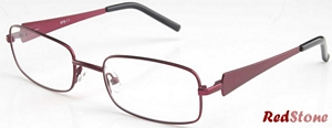 These classic Stainless Steel frames come in burgundy With
