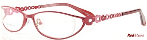 These fiery fire engine red frames by RedStone are