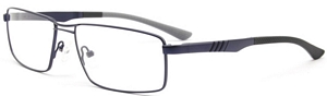 These square frames come in cool blue and are the perfect