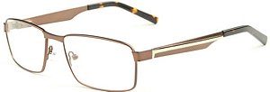 These matte brown eyeglasses feature square and scratch