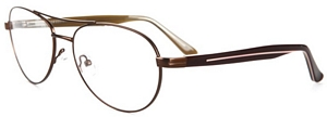 Don these sharp aviator eyeglasses with a Double Bridge for
