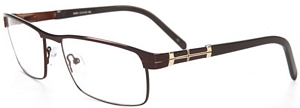 These brown reading glasses with metallic detailing are
