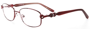 Look sophisticated in these wine red reading glasses  The