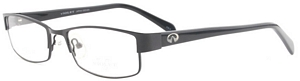 These fashionable black eyeglasses add a hint of style to
