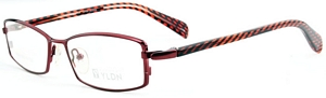 Draw attention to yourself in these wine red eyeglasses