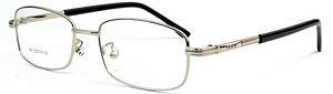View the world in style in these shiny silver eyeglasses