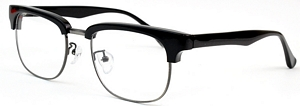 These Oval frames come with Gun rims and Black Acetate