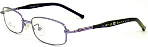 These Purple rimmed frames come with purple temples with