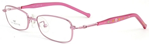 These pink rimmed frames come with pink temples with