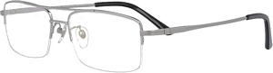 DOUBLE BRIDGE PURE TITANIUM SEMI RIMLESS