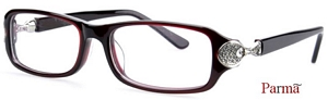 The enticing burgundy square shaped frames are undoubtedly