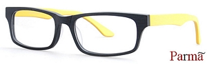 The funky black and yellow glasses revitalize the