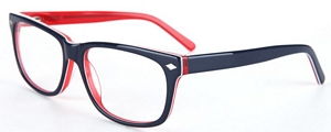 Make a statement in these cool specs featuring fun blue and