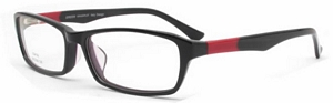 Don these reading glasses with square lenses and prepare to