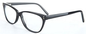 The design of these reading glasses creates an elegant and
