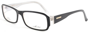 These black and white prescription eyeglasses go great with