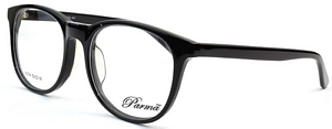 Look professional in these solid black prescription glasses