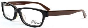 The prescription glasses boast classic black and brown