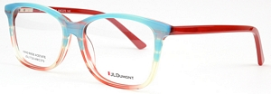 These blue and red eyeglasses are sure to blow you away