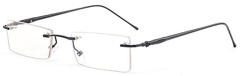 Prescription Glasses Model ASW4010rl Alloy in Black