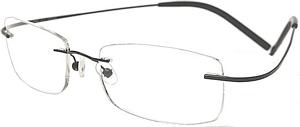 Rimless Glasses More Attractive : Prescription Glasses Model ASW4006Frl Titanium in Gold