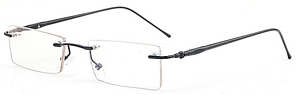 rimless frames with black colored arms  Nothing more needs