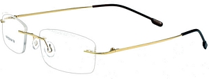 Both men and women pull off these golden eyeglasses