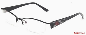 These trendy semi rimless frames by RedStone have a cool
