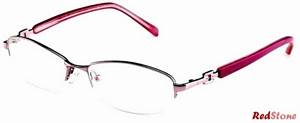 These gorgeous pink semi rimless frames by RedStone are the