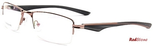 These stylish half rimmed specs by RedStone have a sleek