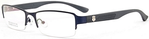 These dark blue frames are perfect for formal settings as