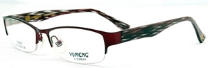 These wine red spectacles are a great choice for both men
