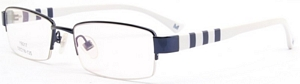 These white and dark blue frames are extremely eye catching