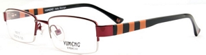 These frames are very colorful with wine red rims and