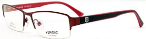 These spectacles are red and brown and quite unusual  The