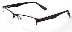 Slip on these gun metal and silver reading glasses and wait