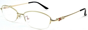 Designed for ladies, these eyeglasses frames feature a