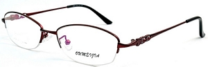 Add warmth to your look with these burgundy half rimmed