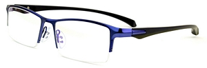 The blue purplish hue on these very classy semi rimless