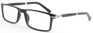 Described as classic black and silver frames with some