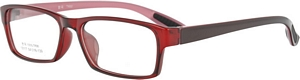 Pass up the boring black frames and choose these red
