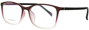 Burgundy and clear eyeglasses of the highest