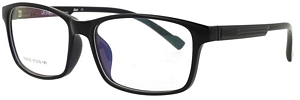 Black and blue. Top Quality eyeglasses that suit almost all