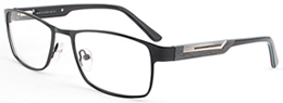 Consider these black unisex frames with slim nose pieces and temples structured for extra comfort