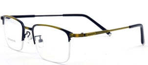 The gold and black fading on this pair of prescription glasses reminds us of the sunset