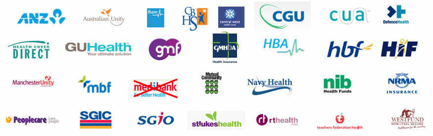 JUst some of the health funds that support online optical providers
