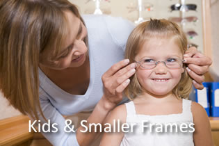 Smaller frames to suit children and small heads